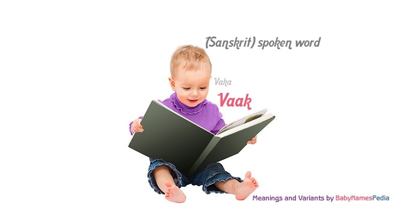 Meaning of the name Vaak