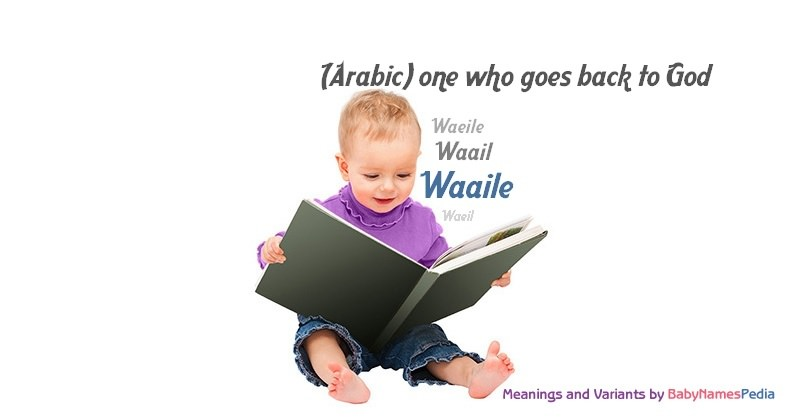 Meaning of the name Waaile