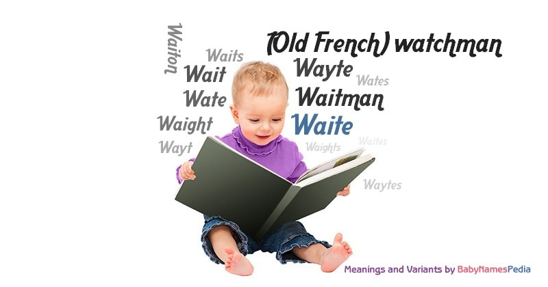 Meaning of the name Waite
