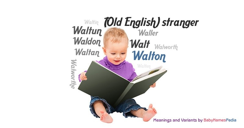 Meaning of the name Walton