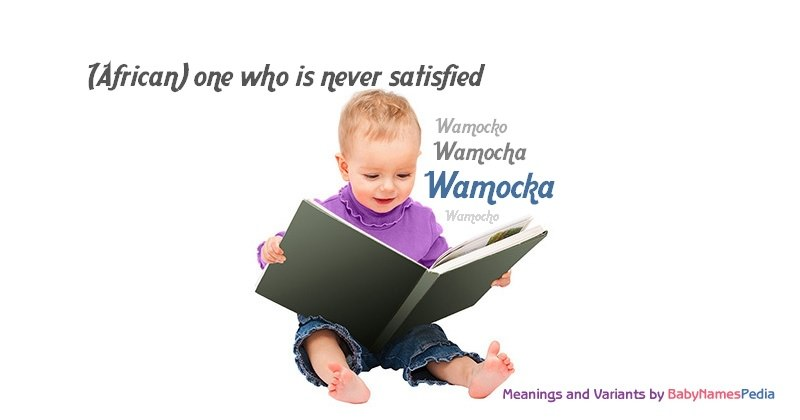 Meaning of the name Wamocka