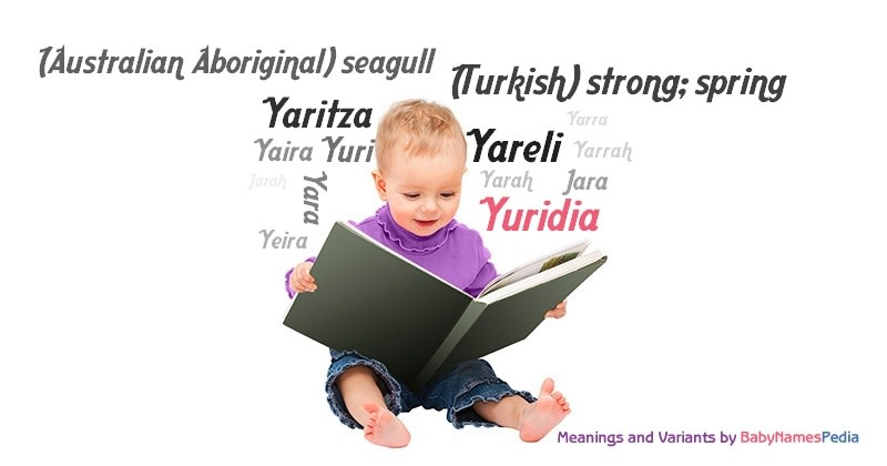Yuridia - Meaning of Yuridia, What does Yuridia mean?