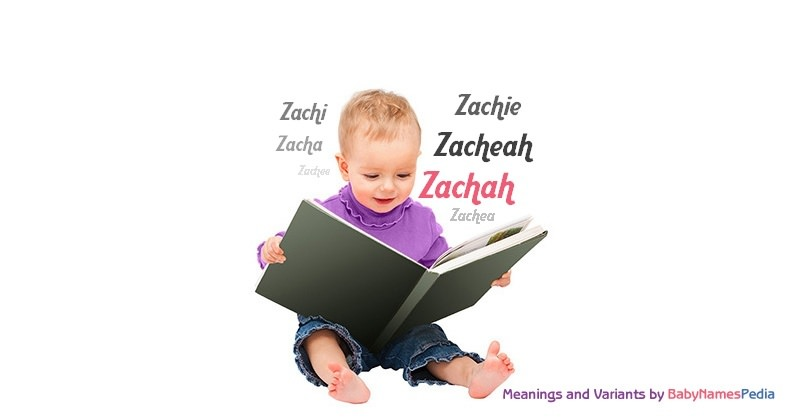 Meaning of the name Zachah