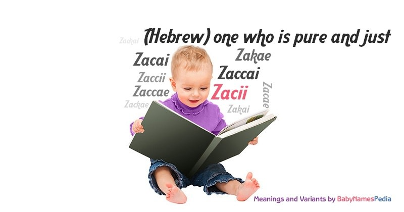 Meaning of the name Zacii