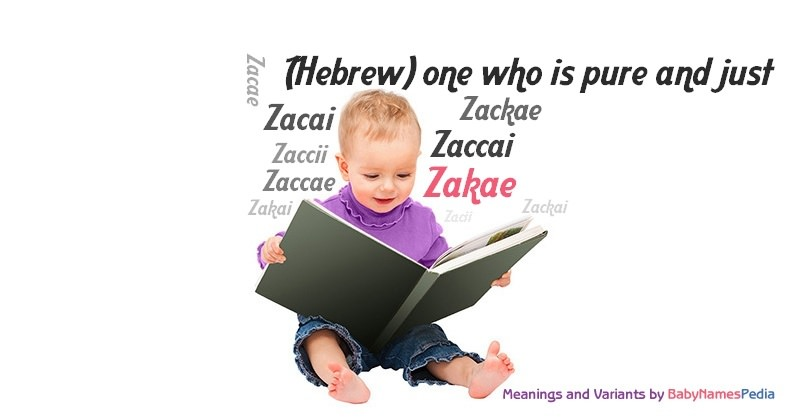 Meaning of the name Zakae