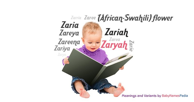 Meaning of the name Zaryah