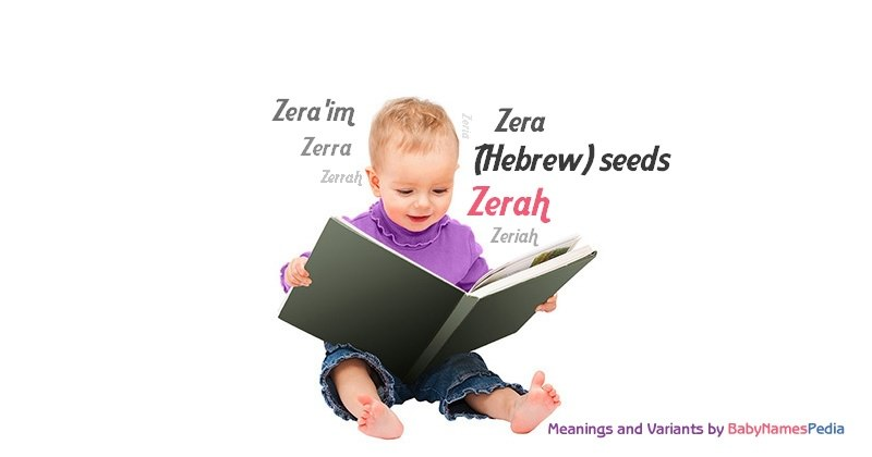 Meaning of the name Zerah
