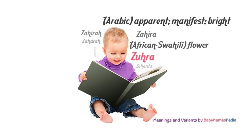Meaning of the name Zuhra
