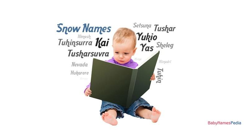 Snow Names For Boys At Baby Names Pedia